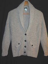 J.Crew Donegal Shawl Collar Cardigan Sweater Flecked Heathered Brown Mohair Sz S