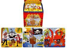 12 PIRATE JIGSAW PUZZLE toy Party Bags Filler GOODY gift children boys PINATA