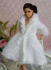 White Lovely Fashion Winter Coats Clothes/Outfit For Barbie Doll C-u01
