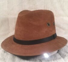 "NWT Wind River By Bailey ""KENYON"" 25549 Men's Hat Fedora Leather Large Brown"