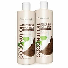 Nature Well Extra Virgin Coconut Oil Body Wash 2 pk, Almond Oil, Shea Butter