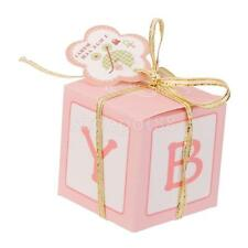 12Pcs Candy Sweet Bags Gift Boxes Birthday Baby Shower Favor w/Ribbon Pink