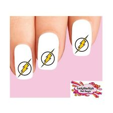 Waterslide Nail Decals Set of 20 - The Flash Lightning Bolt