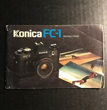 Retro Vintage Konica FC-1 35mm Film SLR Camera - User Instruction Manual