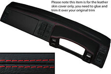 RED STITCH DASH DASHBOARD LEATHER SKIN COVER FITS VW SCIROCCO MK2 1981-1992