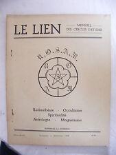 Le Lien Radiesthésie Occultisme Spiritualité Astrologie Magnétisme Nov Déc 1962