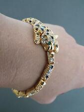Vintage KJL Kenneth Jay Lane Tiger Bracelet Bangle