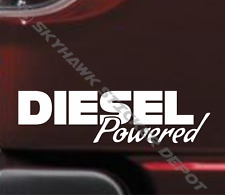 Diesel Powered Bumper Sticker Vinyl Decal Coal Roller Diesel Truck Car Ford RAM