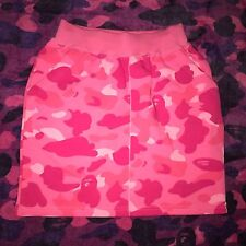 Bape Pink Camo Shorts Womens Size Small Rare red shark Apee Girls A bathing ape