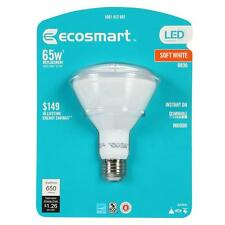 4 LED BULBS ECOSMART Br30 10.5 w = 65 wATT Replacement Soft White Dimmable