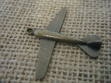 2 Antique Bronze Finish Plane Aeroplane Steampunk Pendant Charm Bead 43x49mm