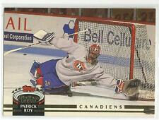 PATRICK ROY 1992-93 TSC Topps Stadium Club card #133 Montreal Canadiens NR MT