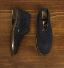 $995 Brunello Cucinelli Blue Suede Distressed Chukka Ankle Boot US10 43EU