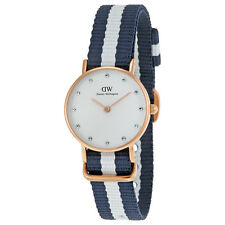 Daniel Wellington Winchester White Dial Blue and White Stripe NATO ladies 0908DW