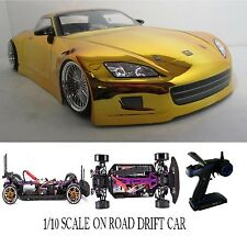 1/10 Scale Honda S2K RTR Custom RC Drift Cars 4WD 2.4Ghz & Charger GOLD
