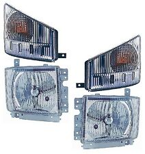 New Headlight/Signal Light PAIR FOR 2008-2015 ISUZU NPR HD NQR Truck