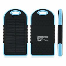 Real 5000 mAh Portable Dual USB Solar Power Bank - Lighter Than MI, Xiaomi 10400