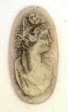 NOS Antique Oval Carved Shell Detailed Cameo Stone Piece 22 mm x 11 mm #ZZ72