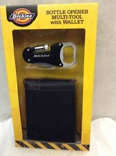 Dickies Bottle Opener MULTI-TOOL w/Black Bifold Passcase WALLET~NEW with tags