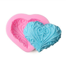 Heart Shape Silicone Fondant Mold Cake Chocolate Decorating Tools Soap Mould