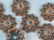 16 Bead Caps Wire Heart Open Design 14mm Copper Tone Bali Style #P473