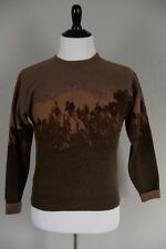 Vtg Ralph Lauren Equestrian Horse Polo Scene Sweater Mens Sz Small *Lambswool