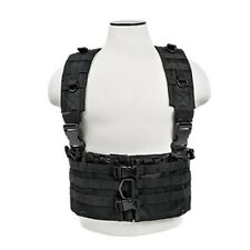 NcSTAR Tactical Airsoft & Hunting MOLLE Vest Chest Rig w/ 6 5.56 Mag Pouches BLK