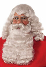 DELUXE SANTA WIG AND BEARD HOLIDAY ADULT CHRISTMAS COSTUME ACCESSORY