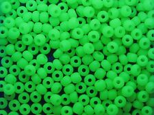 URANIUM Seed beads Rocaille, Yellow Opal URANIUM 5/0, 4,6mm (20g)