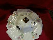 Vintage Lighting rare 1930s porcelain fixture by Porcelier. Bath or bedroom