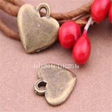 30pc Antique Bronze heart Pendant Charms Accessories Bead wholesale PL378