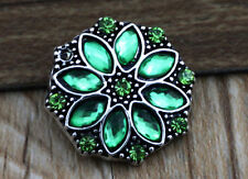 3D Rhinestone Drill Snaps Chunk Charm Button Fit For  Leather Bracelets A1