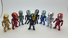IRON Man Action Figure Kids Boy Display FIGURINE Set of9 Cake Topper Decorazione Giocattolo