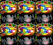 96 PACK Flashing Mouth Piece Guard Light Up Teeth LED Party Favors Mouthpieces