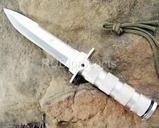 "10.5"" SURVIVAL Bowie Tactical Fixed Blade HUNTING KNIFE w/ Survivor Kit"