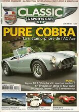 CLASSIC & SPORTS CAR 3 AC COBRA FERRARI 330 LM 1962 PEGASO Z102 BS JAGUAR MK2