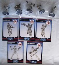 Star Wars Miniatures CLONE WARS (WOTC) REPUBLIC Figures x5 - New & Sealed Lot1
