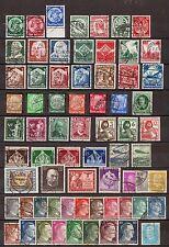 DG0358) Deutsches Reich 23 komplette Ausgaben gestempelt, 479-481, 548-553......
