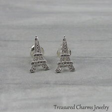 Eiffel Tower Post Earrings - 925 Sterling Silver - Paris France Earrings Studs