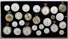 Lot of 26 Pocket Watches & Movements 14k GF Cases Size 0-18 Elgin Longines etc.