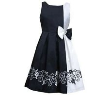 Bonnie Jean Black White Party /xmas Girl Dress 6-7yrs(6x)NWT LAST 1