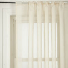 John Lewis voile panel cream piazza oyster  new 90cm w  x 114 d slot top STRIPED