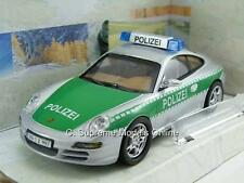 PORSCHE 911 CARRERA S POLIZEI POLICE CAR 1/43RD SILVER/GREEN VERSION N2187 ^**^