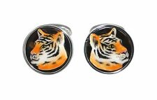CUFFLINKS TIGER URSO LUXURY IN STERLING SILVER 925 AND ENAMELS
