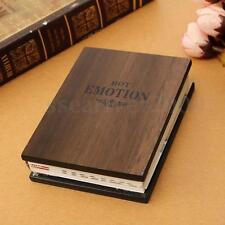 Wodden Cover Photo Album Book Style Family Weddiing Couple Love Memory Storage