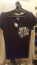 METAL MULISHA WOMENS GRIM LOOKING V NECK UK 8 US SIZE SMALL FMX MMA