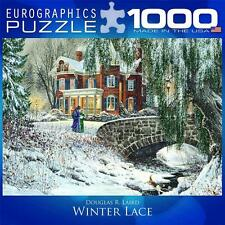 EUROGRAPHICS PUZZLE WINTER LACE DOUGLAS LAIRD 1000PC WINTER WONDERLAND 8000-0611
