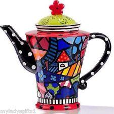 Romero Britto Full Size Ceramic Home Teapot