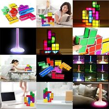 Newest DIY Tetris Stackable Retro Game LED Desk Light Table Lamp