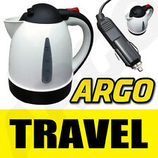12 VOLT HOT WATER KETTLE CAMPING TOURING CARAVAN 12V WHITE
